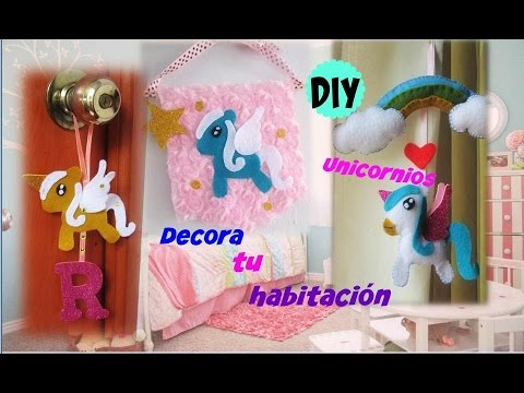 Diy 3 ideas para decorar tu habitaci n inspirado en los for Cuarto de unicornio