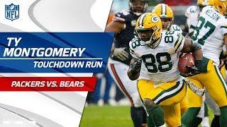 Ty Montgomery Breaks Off 37-Yd TD Run vs. Chicago! | Packers vs. Bears | NFL Wk 10 Highlights