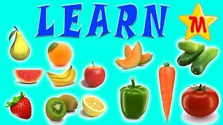 Learn Colors with Fruits and Vegetables Nursery Rhymes Songs Old McDonald Had a Farm Kids Education