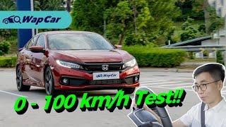 2020 Honda Civic 1.5 Turbo Facelift 0 - 100 km/h Real World Test! | WapCar