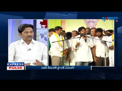 Srinivas Kusampudi   Discussion on Pawan Kalyan Meeting with Chandrababu   Express TV part-1 040315