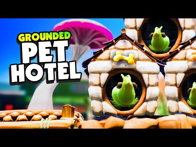 I Built a MEGA PET HOTEL In Grounded - Grounded Update Shroom & Doom