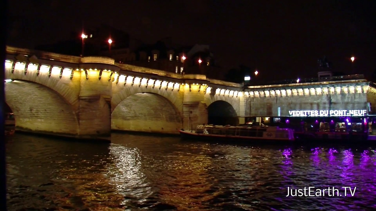 paris bei nacht flussfahrt auf der seine youtube. Black Bedroom Furniture Sets. Home Design Ideas