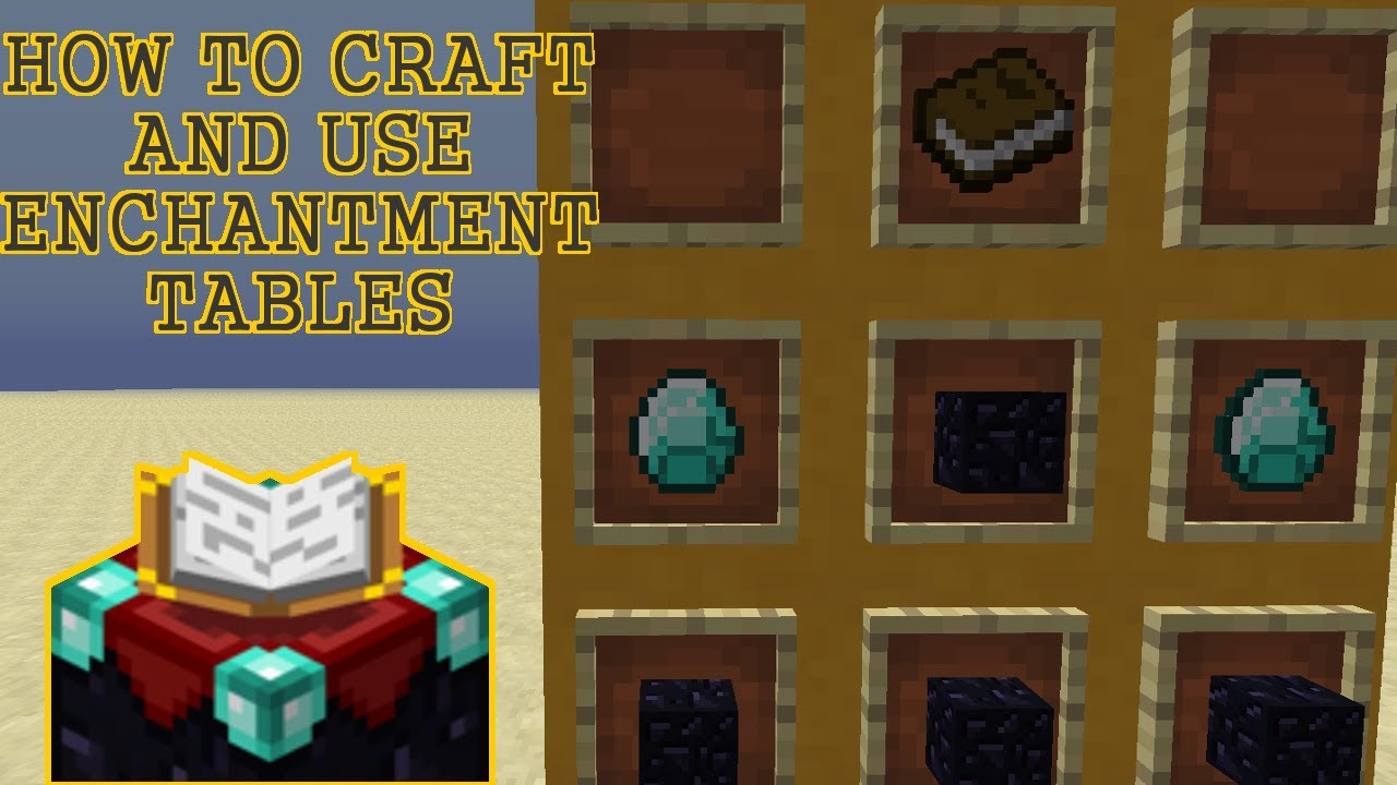 how to craft enchantment table how to craft amp use an enchantment table minecraft 1 6 2 6767
