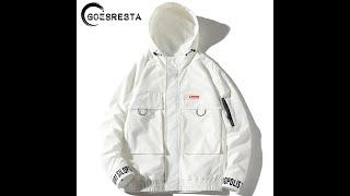 Осенние толстовки с капюшоном мужские куртки карго 2020 уличная ветровка в стиле хип хоп пальто