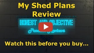 My Shed Plans Honest Review ▶ How to Build any Shed - 12,000 Project Plans◀