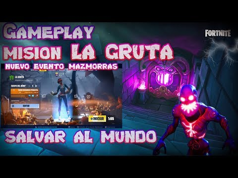 Gameplay: nuevo evento MAZMORRAS 🌏👾⚡(SALVAR AL MUNDO FORTNITE) ^YUCKO16