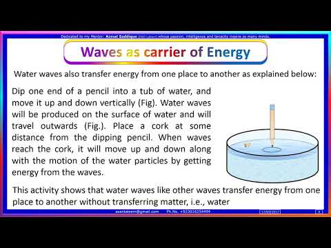 10.7 Waves as carrier of Energy