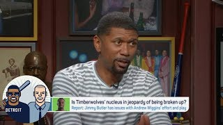 Jalen Rose: 'I would be shocked' if KAT and Wiggins are on Wolves in 2018-19 | Jalen & Jacoby | ESPN