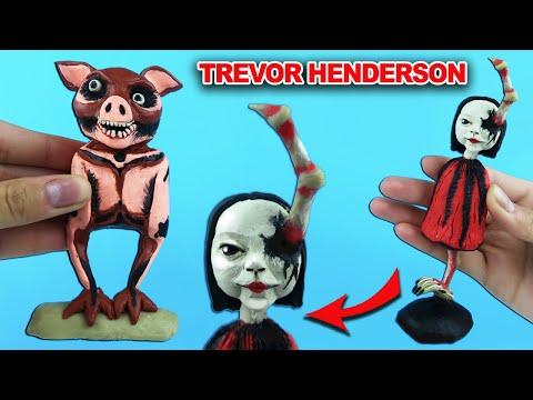 Призрачная Свинья – Ghost Pig, Кукольное тело – Doll body   Лепим Творения Тревора Хендерсона