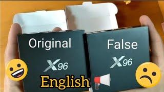 Smart tv X96 VS X96 fake unboxing and compare (English)