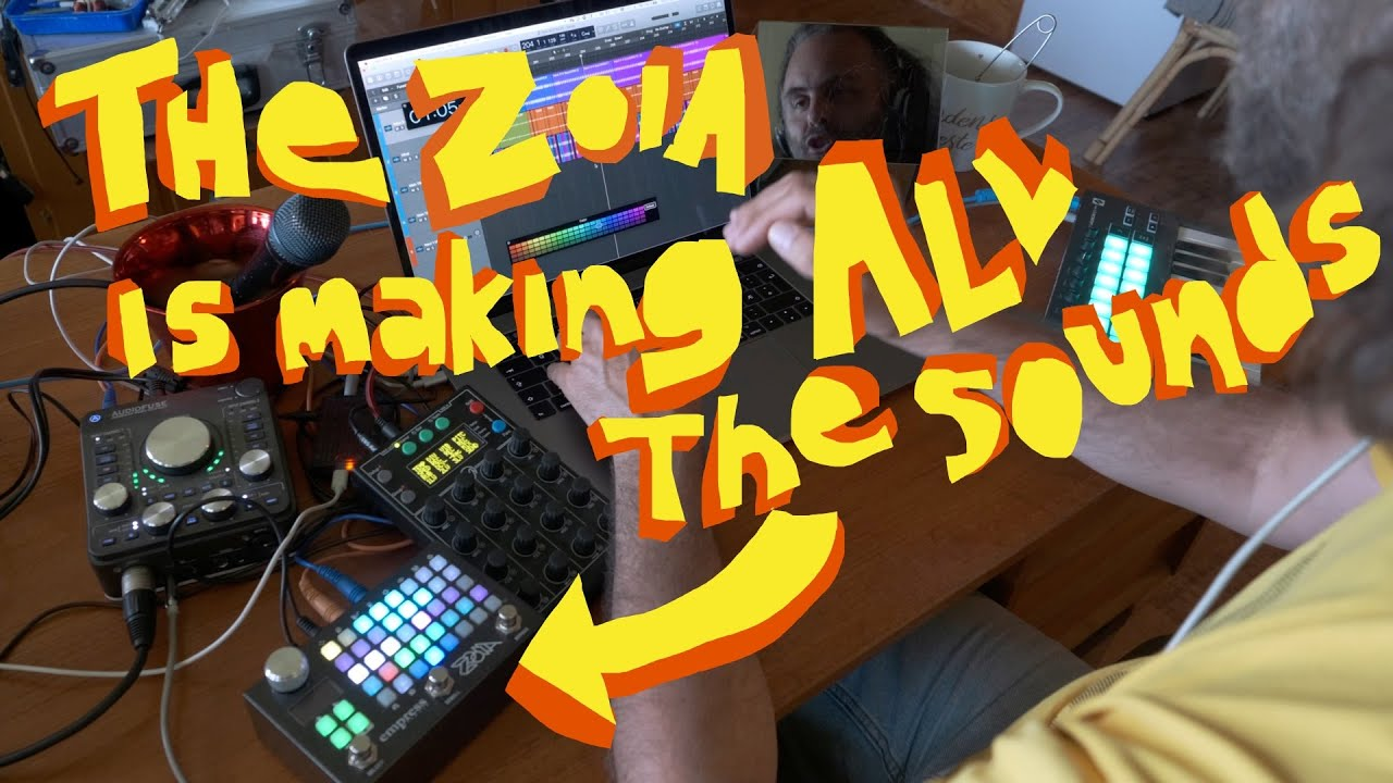 Making an 8-bit like song with ZOIA and Faderfox EC4 and stuff…