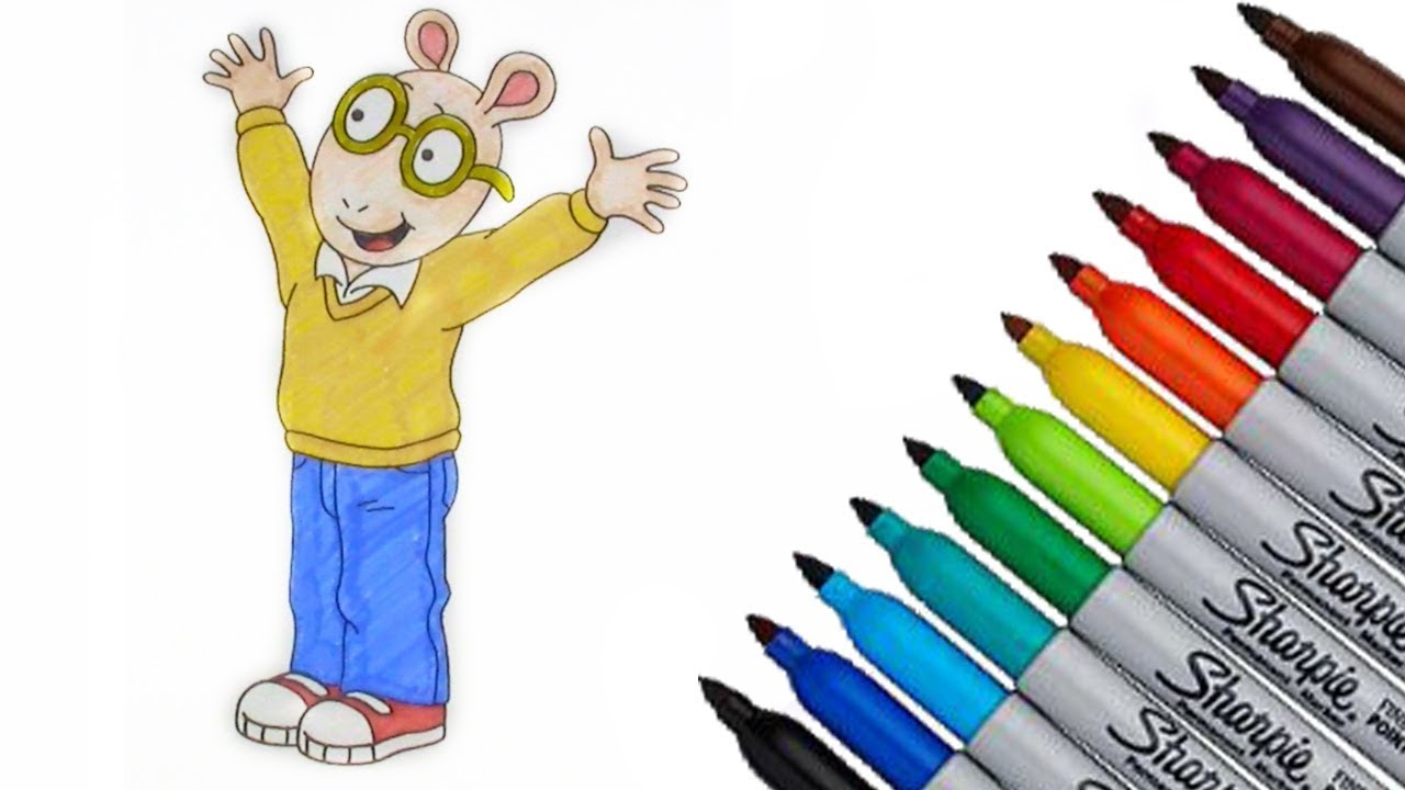 arthur pbs kids coloring page 2017 new hd video for kids youtube