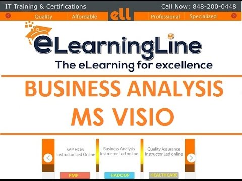 MS Visio tutorial Flowchart - BA training by ELearningLine @ 848-200-0448