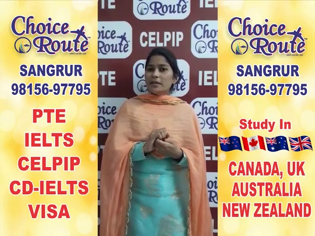 Congratulations NEERU - Choice Route, the Best PTE and IELTS institute in Sangrur.