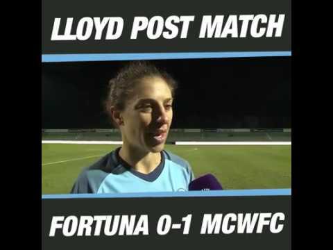 Carli Lloyd post UWCL match