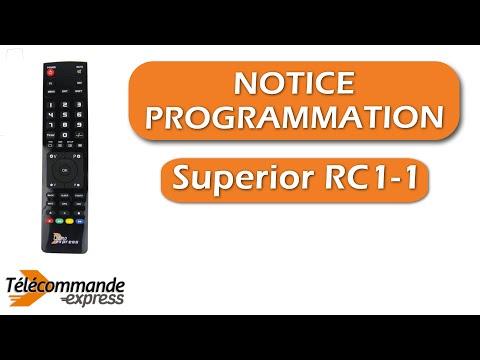 Programmer une t l commande tv universelle superior rc1 1 - Programmer telecommande universelle ...