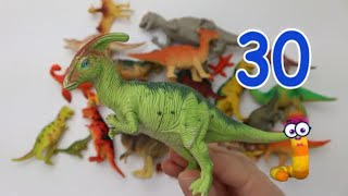 Counting to 40 with Dinosaurs | Fun & Educational Learning Video for Kids Toddler Preschool