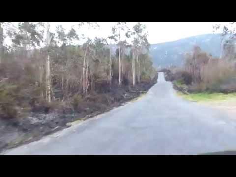 Incendio provocado por la Xunta de Galicia en Lousame