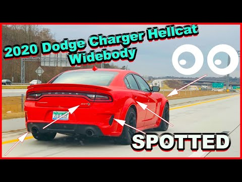 SPOTTED a 2020 DODGE CHARGER HELLCAT WIDEBODY in REAL LIFE!!!! (NOT CLICKBAIT)
