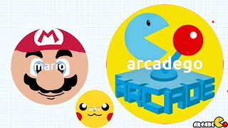 MARIO ARCADEGO NEW ICON BATTLE 1ST PLACE AGARIO LEADERBOARDS!