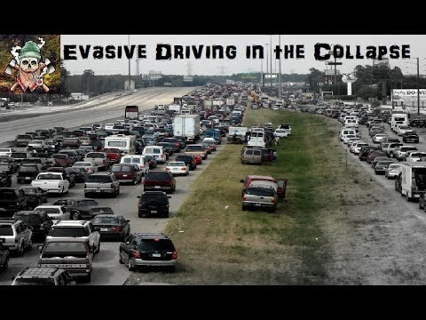 Defensive and Evasive Driving in the Collapse of Society