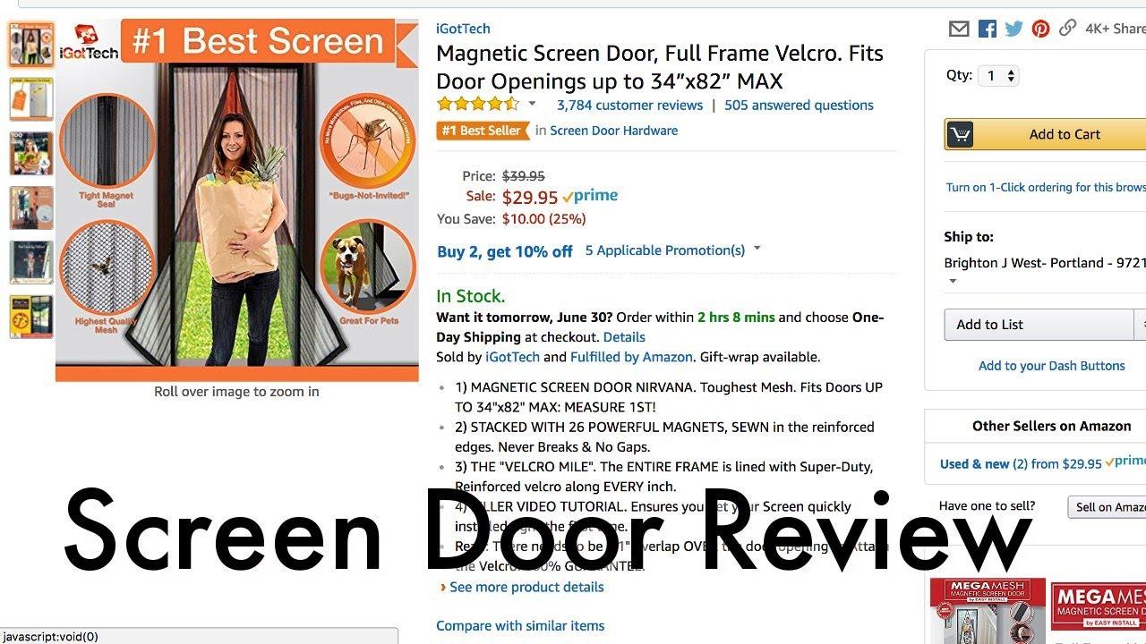 Magnetic screen door review youtube magnetic screen door review vtopaller Images