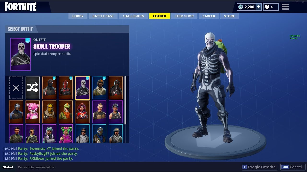 Selling Fortnite Account Skull Trooper Red Knight Aerial Assault Trooper Comment Offers