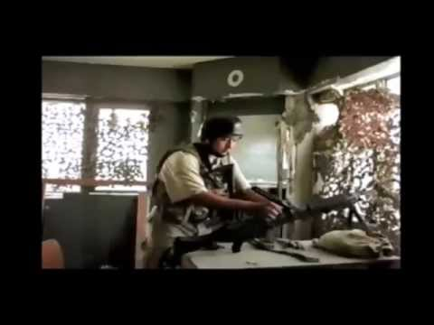 Compiled videos from Basrah Palace mortar attack