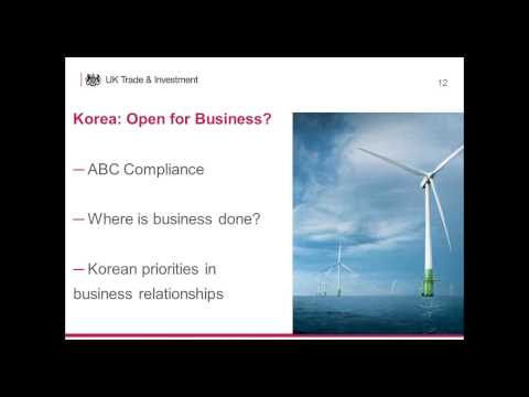 Opportunity Korea: The Energy Market - Open for UK Expertise - UKTI Webinar