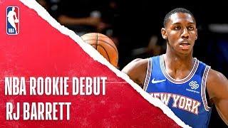 RJ Barrett Impresses In Rookie Debut