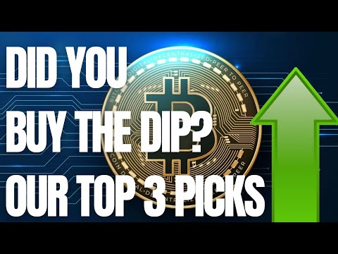 Our Top 3 Picks To Buy the Dip!  – Cryptocurrency Price 2021 – Crypto Dump Price Action 2021