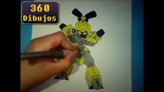 Dibujando a Metabee / drawing Metabee (Medabots)