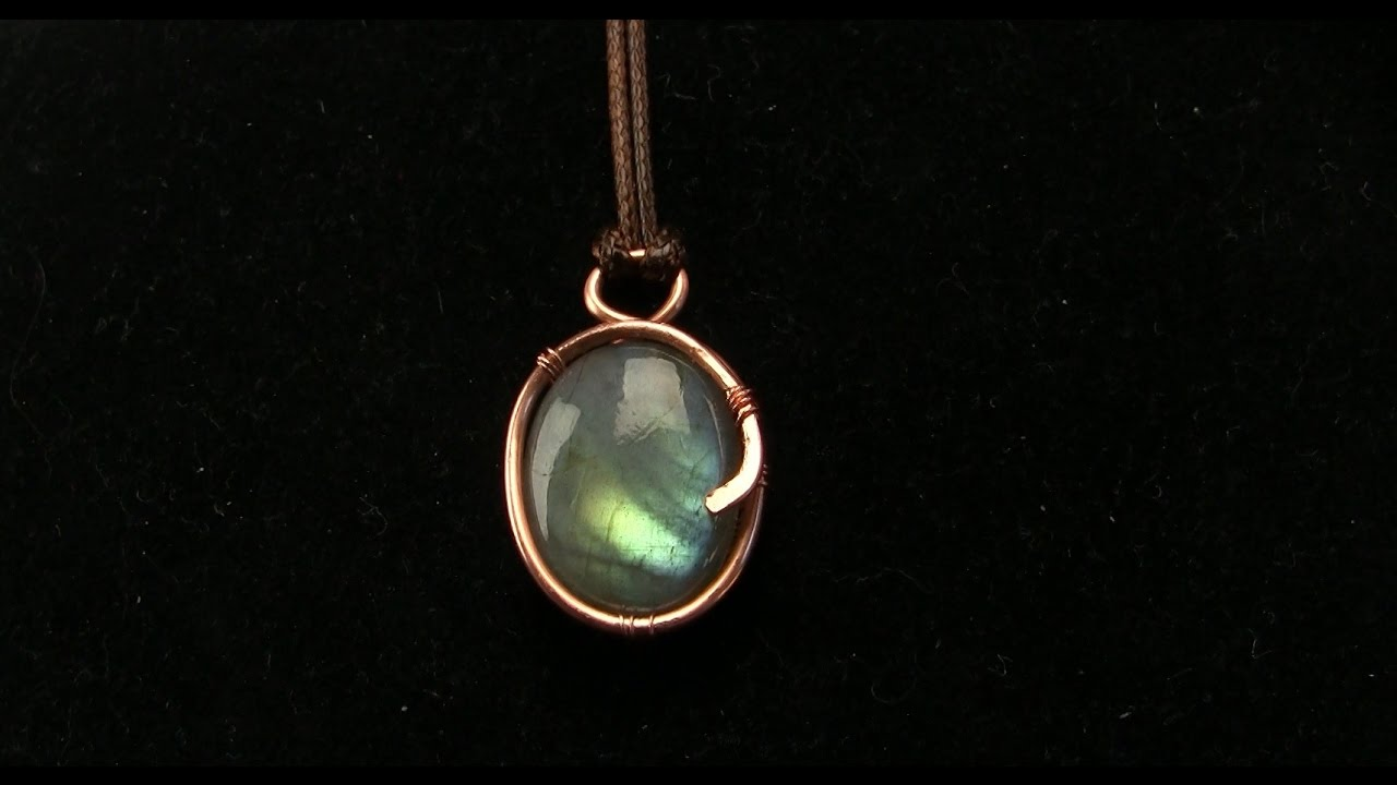 26 Gauge Wire >> Basic Wire Wrapped Cabochon Pendant, Using Thick Gauge, Tutorial - YouTube