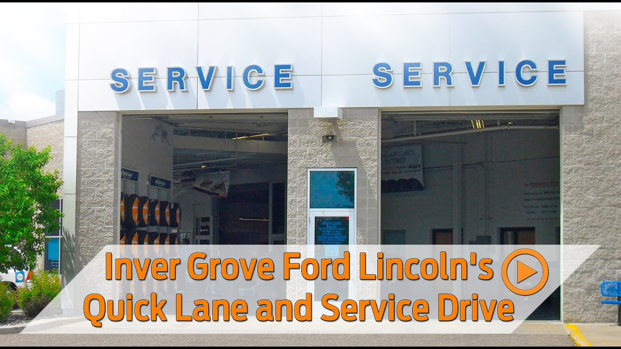 How To Enter Inver Grove Ford Lincoln S Quick Lane And Service Drive