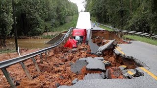 Roads and bridges suffered major damage from Florence. Here's what repairs could cost. thumbnail
