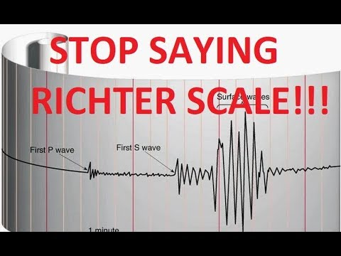 Please Stop Saying 'Richter Scale' (unless you really mean it)