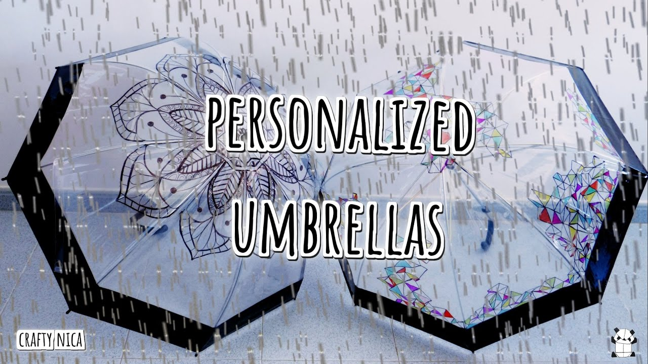 diy personalized umbrellas mandala drawing how to decorate an