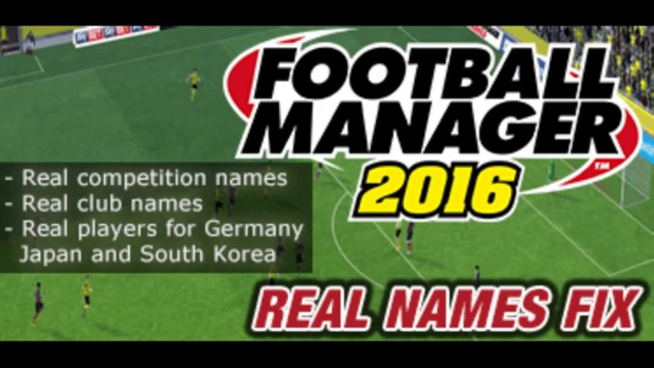 FINALLY HOW TO FIX FAKE PLAYER NAMES IN FM 2016