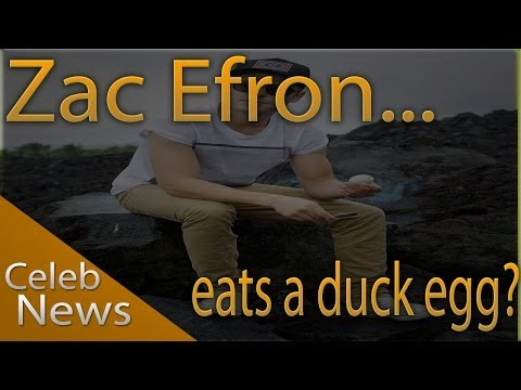 Zac Efron eats developing duck embryo (Balut) on volcano - interview with Jimmy Kimmel (live)