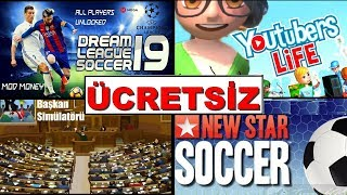ÜCRETSİZ HİLE APK, Dream League Soccer 2019, Youtubers Life, New Star Soccer, Başkanlık Simulator