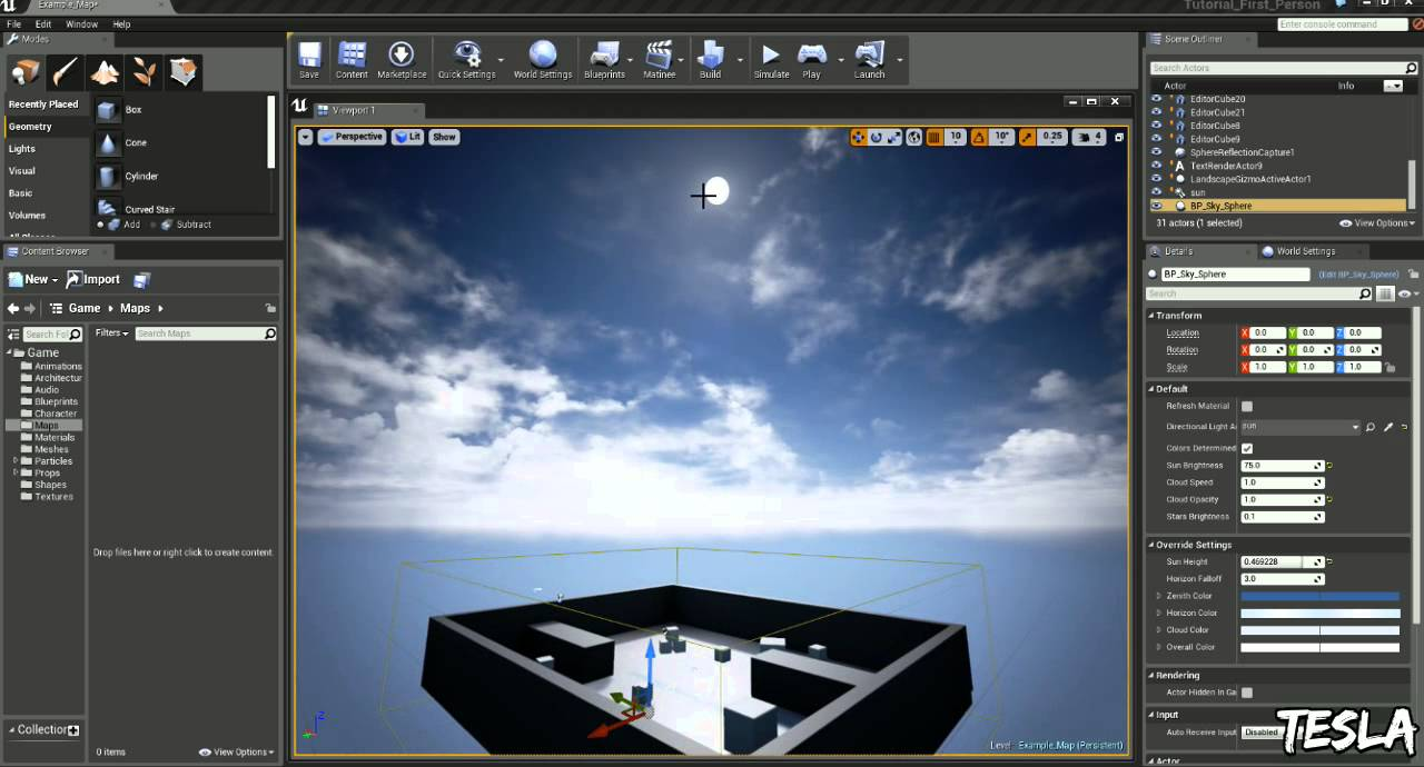 Unreal engine 4 tutorial time of day youtube malvernweather Choice Image