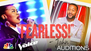 "Denisha Dalton Brings Her Own Style Performing Zayn's ""Pillowtalk"" - The Voice Blind Auditions 2021"