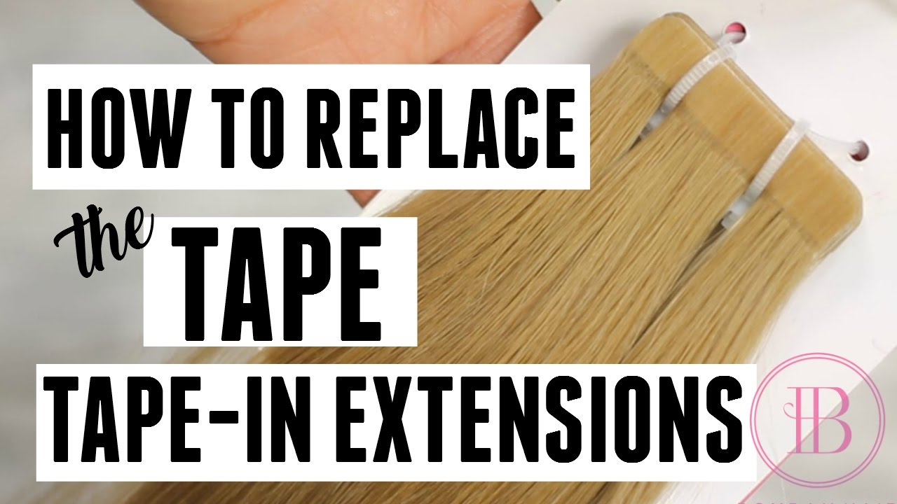 How To Replace Tape For Tape In Extensions Bombay Hair Youtube