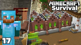 Let's Play Minecraft Survival : Steampunk Sugar Cane Farm And MENDING