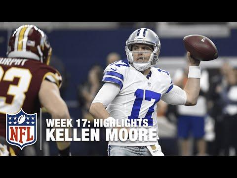 Kellen Moore Throws for 435 Yards & 3 TDs | Redskins vs. Cowboys | NFL Week 17 Highlights