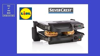 Silvercrest Contact Grill Skg 1700 B3 Unboxing Lidl Ilag 2 Drip Trays 1700w Youtube
