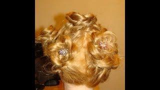 Ажурная коса с розами плетение онлайн