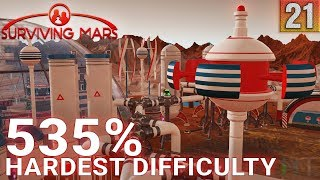 Surviving Mars 535% HARDEST DIFFICULTY - Part 21 - SCRUBBERS! - Gameplay