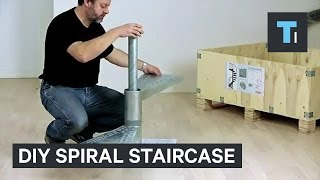 This DIY spiral staircase comes in a box